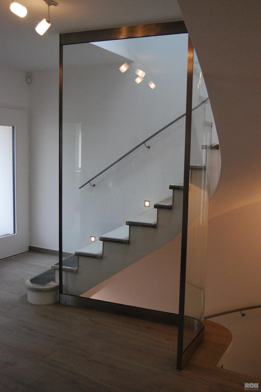Absturzsicherung Treppe glas
