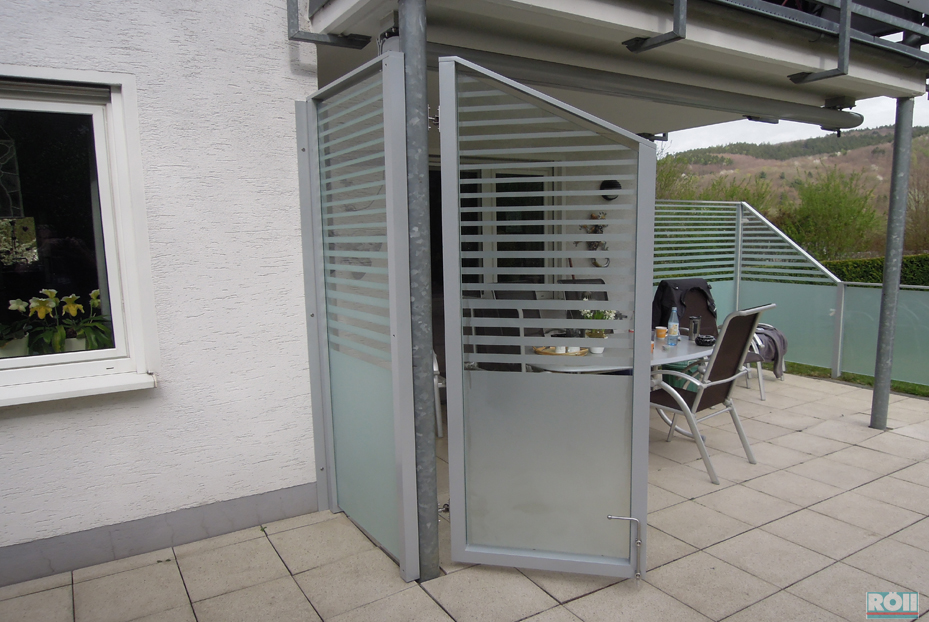 Glas - Balkon trennwand ...